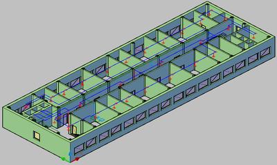 Project StudioCS ОПС. 3D-модель пожарной сигнализации