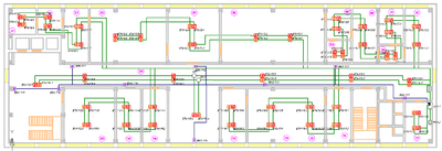 Project StudioCS ОПС. План этажа здания с оборудованием
