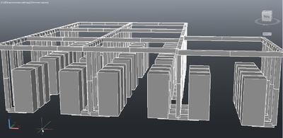 Project StudioCS СКС. 3D вид аппаратной