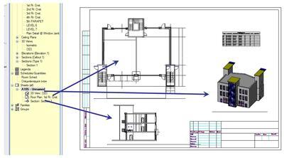 Выходная документация в Revit Architecture