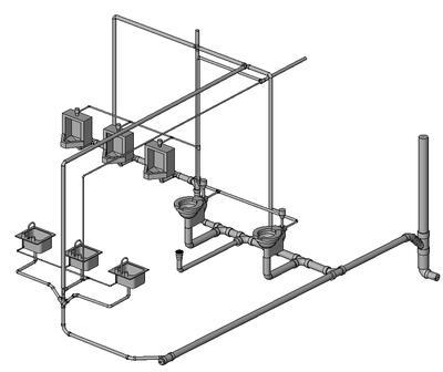 Пример модели сантехнических систем