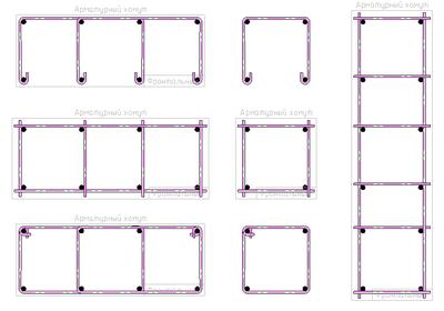 Предустановленные типовые формы хомутов