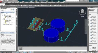 3D-модель насосной станции