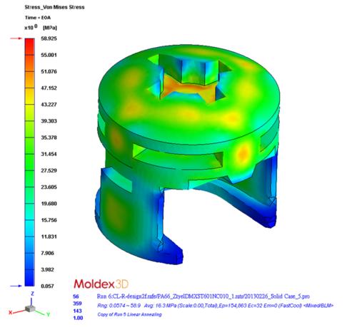Моделирование термообработки: расчет остаточных напряжений после термообработки