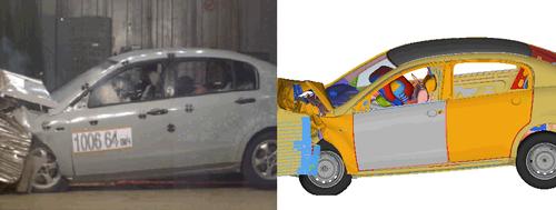 Натурный и расчетный креш-тесты автомобиля ВАЗ-2116 (ОАО АВТОВАЗ)