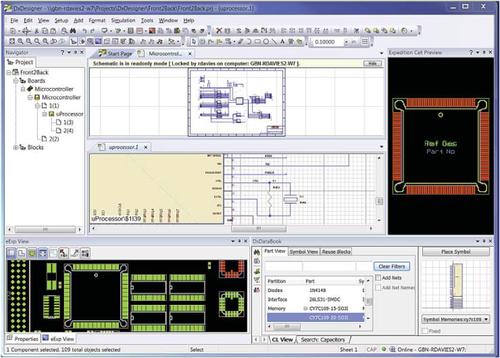 Xpedition xDX Designer обеспечивает подключение и доступ ко всем программным модулям и инструментам для реализации проекта