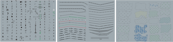 Условные знаки: точечные, линейные, площадные