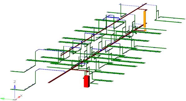 nanoCAD СКС. 3D-модель кабельных каналов