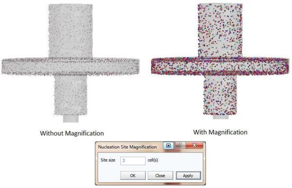 ProCAST/Visual-Viewer. Масштабирование картины зарождения зерен