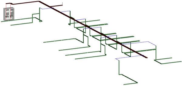 Рис. 8. Project StudioCS СКС. 3D-вид кабельных каналов