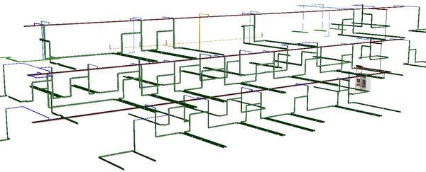 Рис. 9. Project StudioCS СКС. 3D-вид системы по всему объекту
