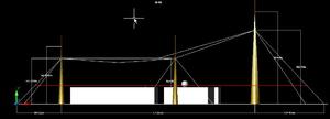 Вертикальное сечение зоны защиты