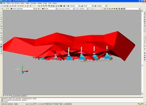 Зона молниезащиты в 3D виде