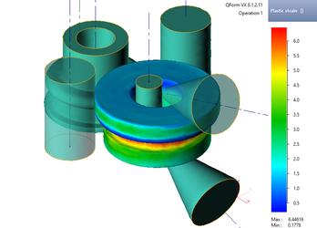 Моделирование раскатки кольца в QForm