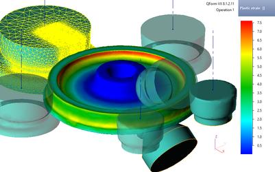 Моделирование раскатки колеса в программе QForm