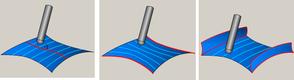 InventorCAM. Фрезерная 5D-обработка. Стратегии обработки: «Перпендикулярно к кривой», «Между двумя кромками», «Между двумя поверхностями»
